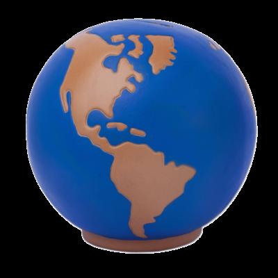 Hand-Painted Ceramic World Bank