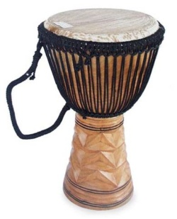Wooden Djembe Drum